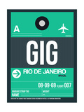 GIG Rio De Janeiro Luggage Tag 1 Posters by  NaxArt