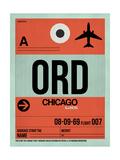 ORD Chicago Luggage Tag 2 Reprodukcje autor NaxArt