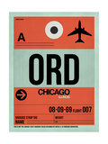 ORD Chicago Luggage Tag 2 Prints by  NaxArt