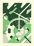 Bike Luv Serigraph by  Delicious Design League