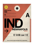 IND Indianapolis Luggage Tag 1 Prints by  NaxArt