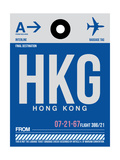 HKG Hog Kong Luggage Tag 1 Print by  NaxArt
