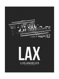 LAX Los Angeles Airport Black Posters by  NaxArt