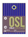 OSL Oslo Luggage Tag 2 Prints by  NaxArt