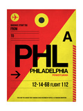 PHL Philadelphia Luggage Tag 2 Prints by  NaxArt