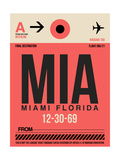 MIA Miami Luggage Tag 1 Prints by  NaxArt