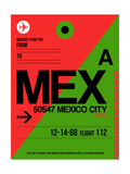 MEX Mexico City Luggage Tag 2 Posters af  NaxArt