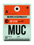 MUC Munich Luggage Tag 2 Prints by  NaxArt