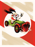 Dog Racer Serigraph by  Delicious Design League