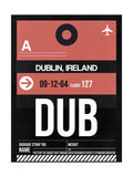 DUB Dublin Luggage Tag 2 Art by  NaxArt