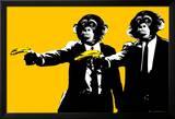 Monkeys - Bananas Kunstdruck