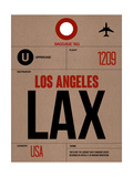 LAX Los Angeles Luggage Tag 1 Posters by  NaxArt