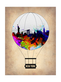 New York Air Balloon Poster by  NaxArt