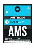 NaxArt - AMS Amsterdam Luggage Tag 1 - Poster