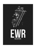 EWR Newark Airport Black Poster by  NaxArt