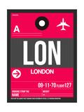 LON London Luggage Tag 2 Reprodukcje autor NaxArt