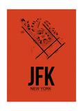 JFK New York Airport Orange Prints by  NaxArt