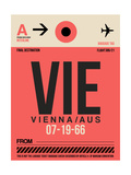 VIE Vienna Luggage Tag 1 Posters by  NaxArt