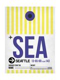 SEA Seattle Luggage Tag 1 Reprodukcje autor NaxArt