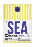 SEA Seattle Luggage Tag 1 Prints by  NaxArt