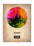 Chicago Air Balloon Lámina por  NaxArt