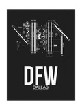 DFW Dallas Airport Black Posters by  NaxArt