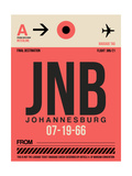 JNB Johannesburg Luggage Tag 2 Prints by  NaxArt