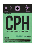 CPH Copenhagen Luggage Tag 1 Print by  NaxArt
