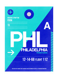 PHL Philadelphia Luggage Tag 1 Print by  NaxArt