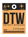 NaxArt - DTW Detroit Luggage Tag 1 - Poster