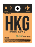 HKG Hog Kong Luggage Tag 2 Prints by  NaxArt