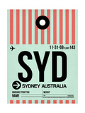 SYD Sydney Luggage Tag 1 Prints by  NaxArt