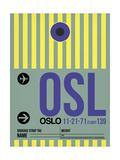 OSL Oslo Luggage Tag 1 Poster autor NaxArt