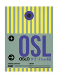 OSL Oslo Luggage Tag 1 Print by  NaxArt