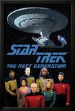 Star Trek Next Gen Cast Plakater