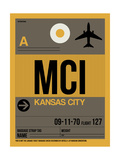 MCI Kansas City Luggage Tag 1 Prints by  NaxArt