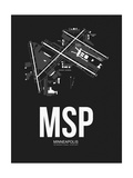MSP Minneapolis Airport Black Posters by  NaxArt