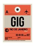 GIG Rio De Janeiro Luggage Tag 2 Art by  NaxArt