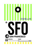 SFO San Francisco Luggage Tag 3 Prints by  NaxArt
