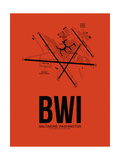 BWI Baltimore Airport Orange Prints by  NaxArt