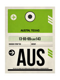 AUS Austin Luggage Tag 1 Prints by  NaxArt