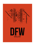 DFW Dallas Airport Orange Art by  NaxArt