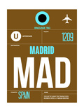 MAD Madrid Luggage Tag 1 Poster by  NaxArt
