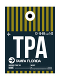 TPA Tampa Luggage Tag 2 Print by  NaxArt