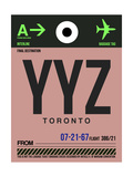 YYZ Toronto Luggage Tag 2 Prints by  NaxArt
