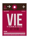 VIE Vienna Luggage Tag 2 Prints by  NaxArt