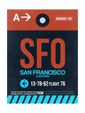 SFO San Francisco Luggage Tag 2 Reprodukcje autor NaxArt