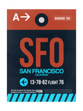 SFO San Francisco Luggage Tag 2 Prints by  NaxArt