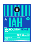 IAH Houston Luggage Tag 2 Poster by  NaxArt