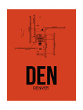 DEN Denver Airport Orange Prints by  NaxArt